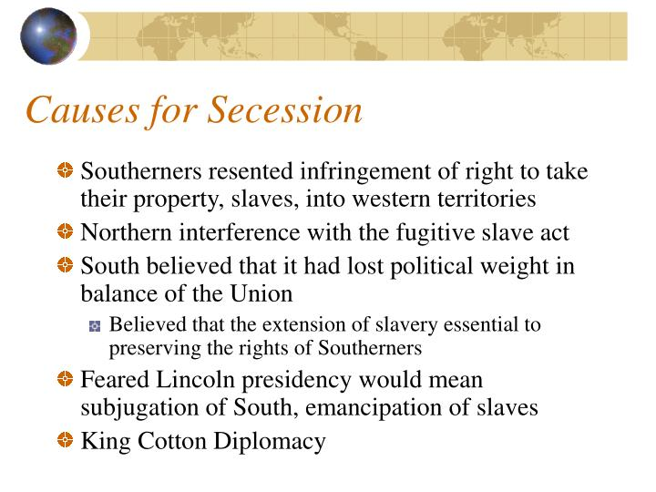 Causes for Secession