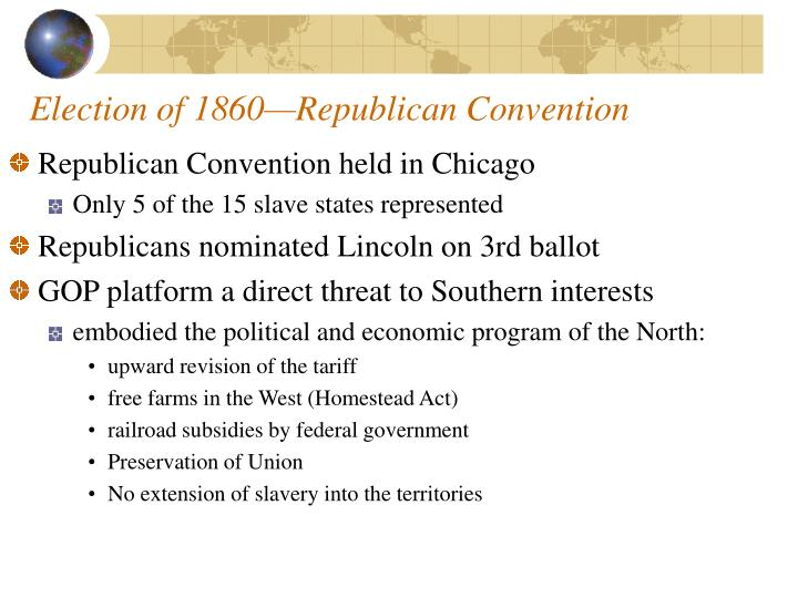 Election of 1860—Republican Convention