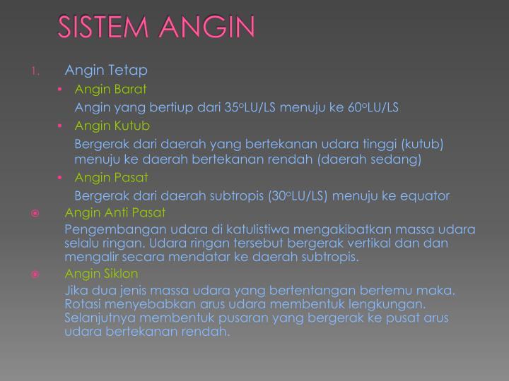SISTEM ANGIN
