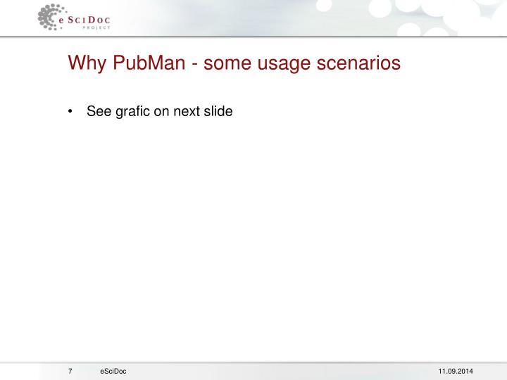 Why PubMan - some usage scenarios