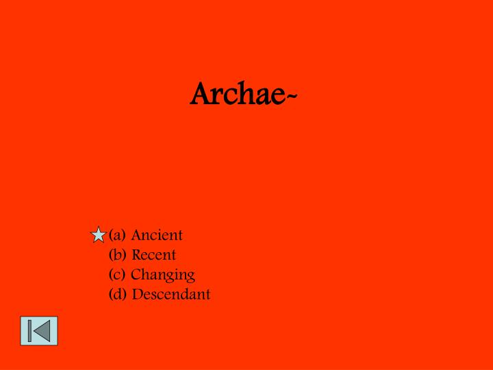 Archae-