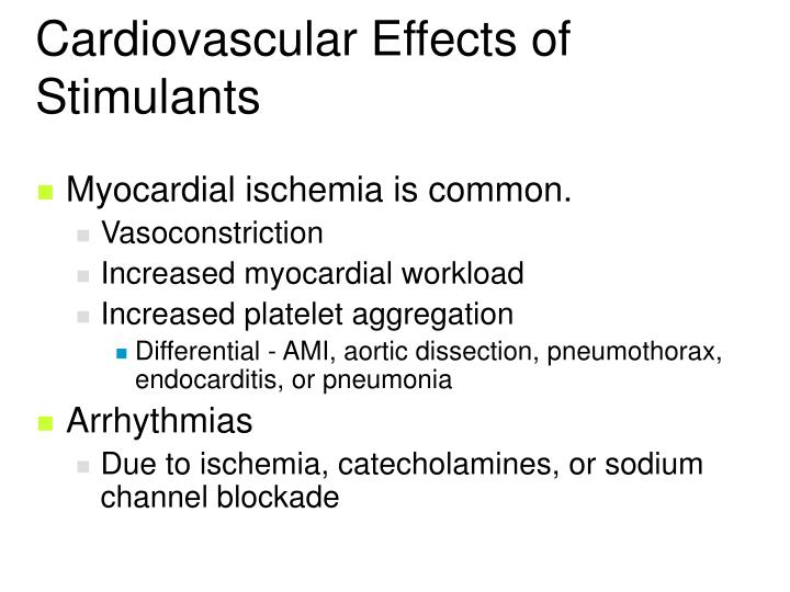 Cardiovascular Effects of Stimulants