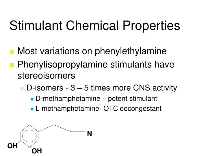 Stimulant Chemical Properties