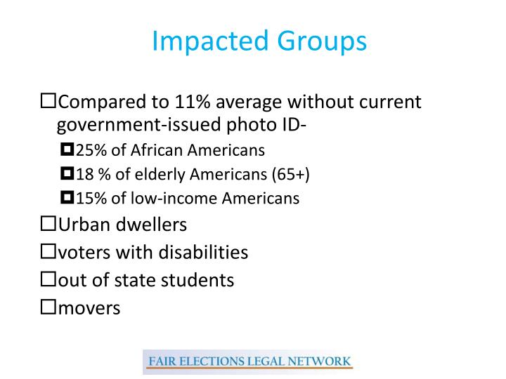 Impacted Groups