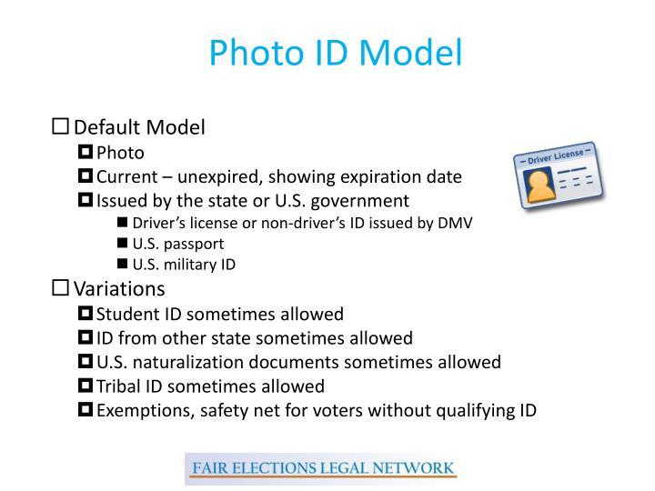 Photo ID Model