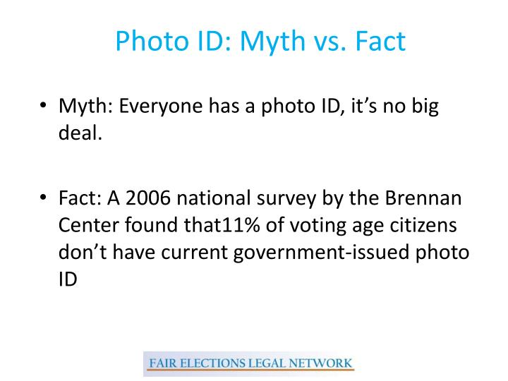 Photo ID: Myth vs. Fact