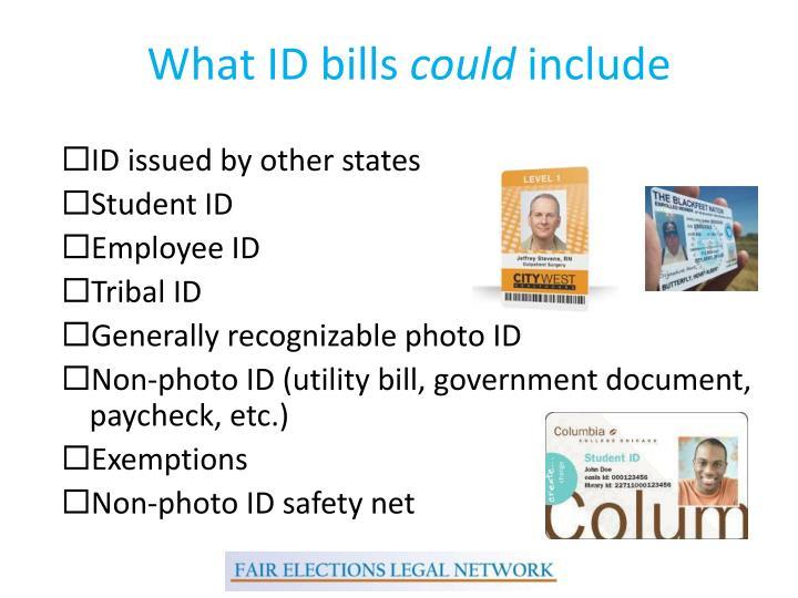What ID bills