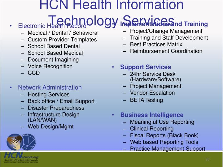 HCN Health Information Technology Services