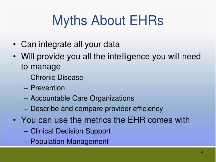 Myths About EHRs