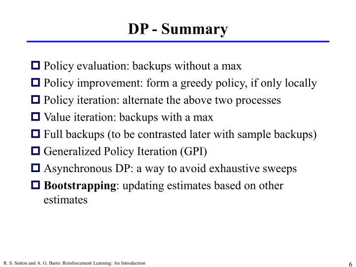 DP - Summary
