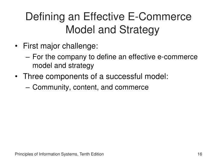 Defining an Effective E-Commerce Model and Strategy