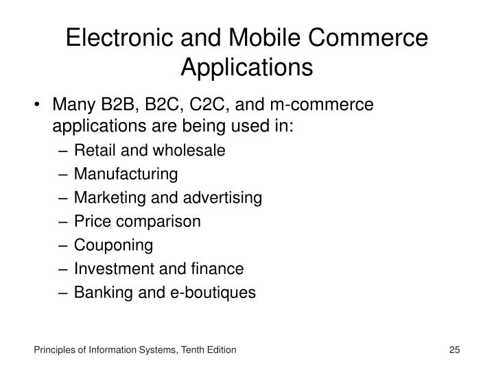 Electronic and Mobile Commerce Applications