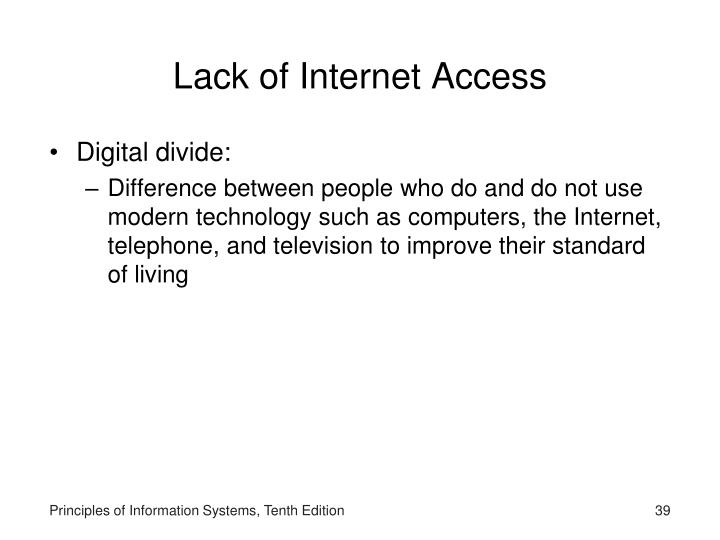 Lack of Internet Access