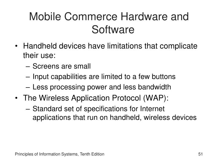 Mobile Commerce Hardware and Software