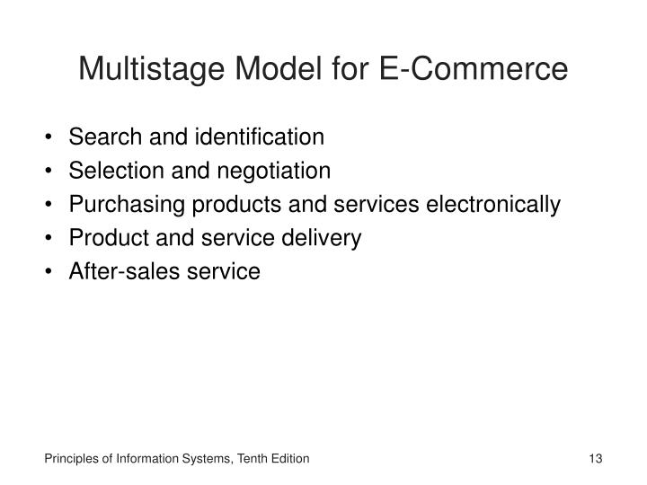 Multistage Model for E-Commerce