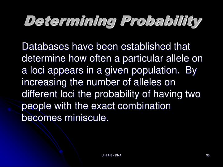 Determining Probability