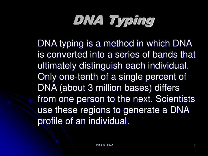 DNA Typing