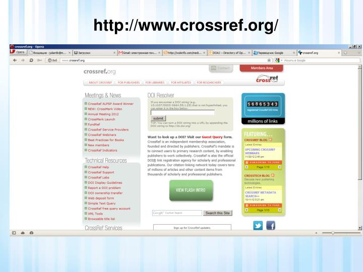 http://www.crossref.org/