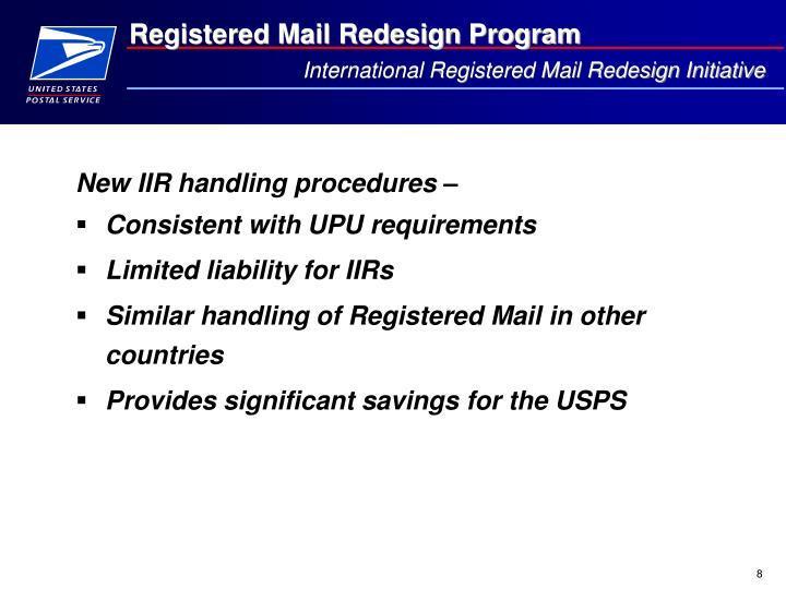 International Registered Mail Redesign Initiative