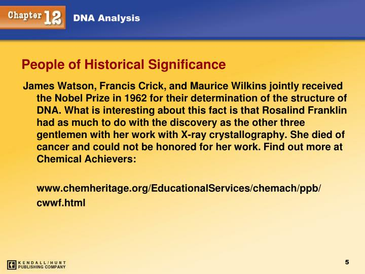 People of Historical Significance