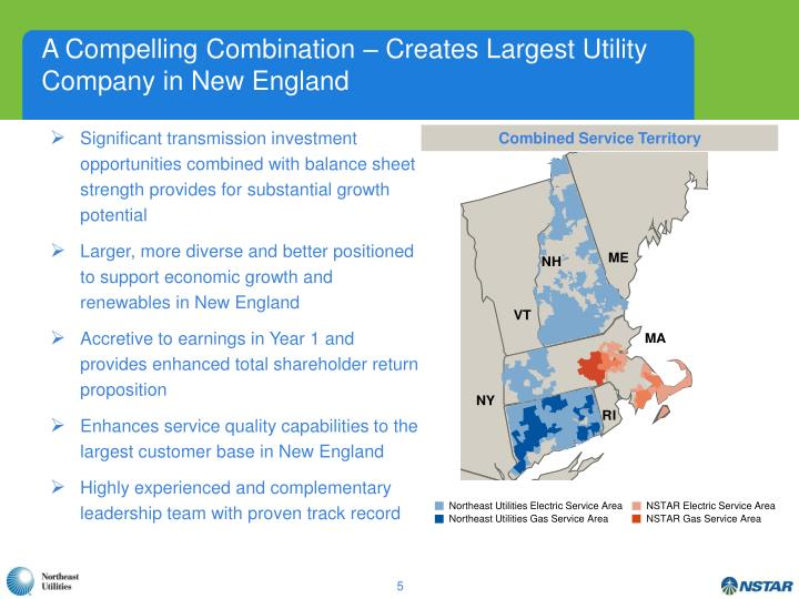 A Compelling Combination – Creates Largest Utility Company in New England