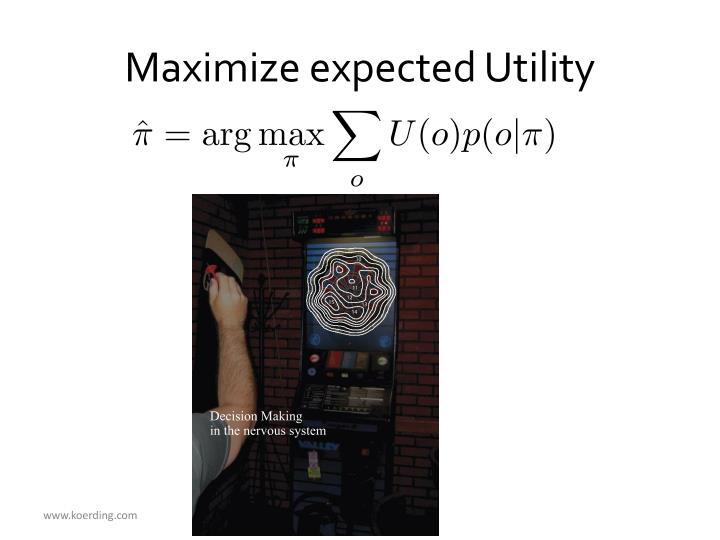 Maximize expected Utility
