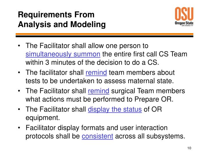 Requirements From