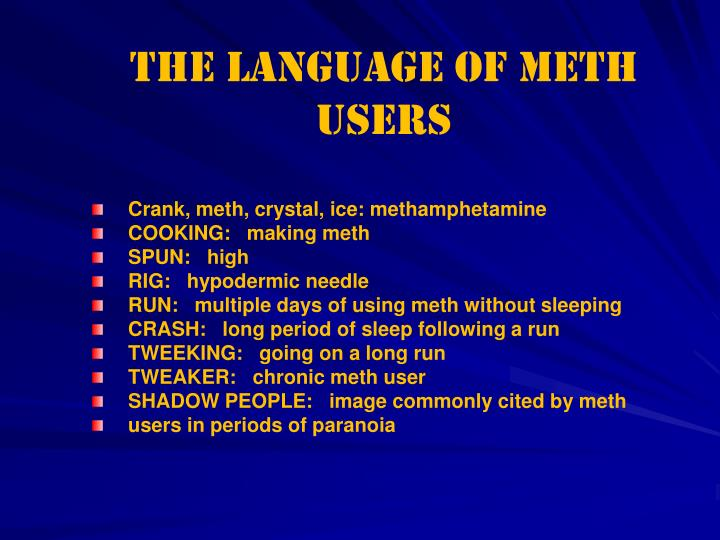 The Language of Meth Users