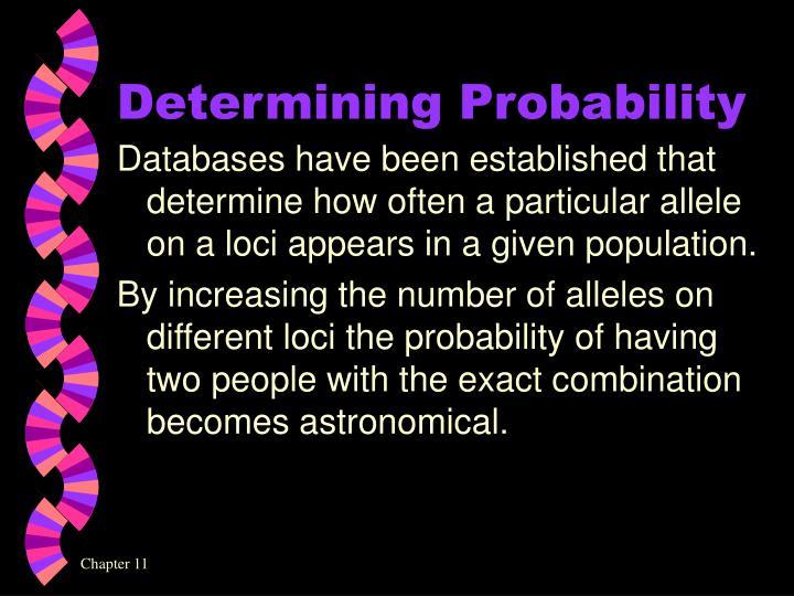 Determining Probability