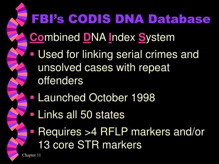 FBI's CODIS DNA Database