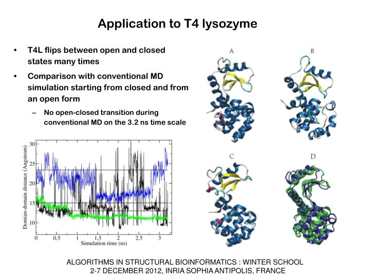 Application to T4 lysozyme