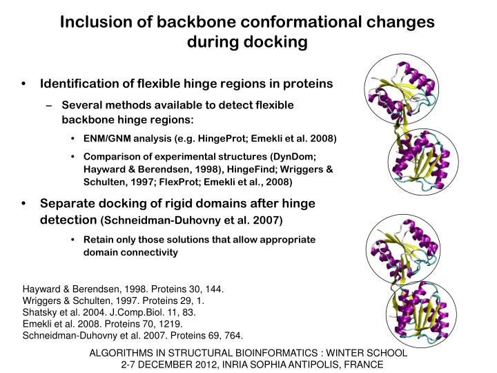 Inclusion of backbone conformational changes during docking