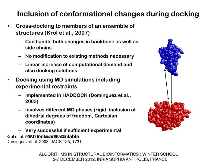 Inclusion of conformational changes during docking