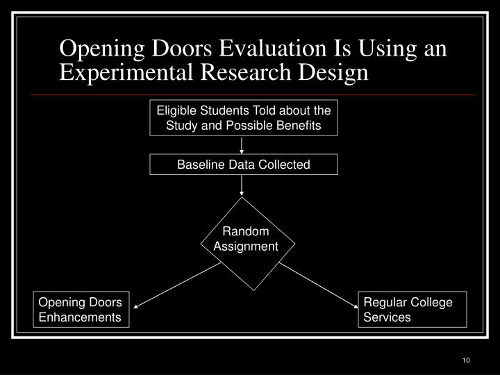 Opening Doors Evaluation Is Using an Experimental Research Design