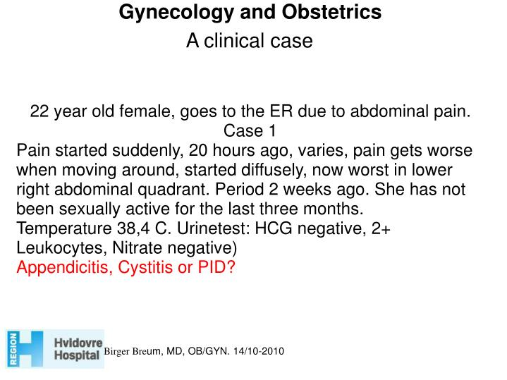 Gynecology and Obstetrics