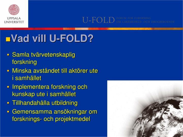 Vad vill U-FOLD?