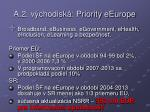 a 2 v chodisk priority eeurope
