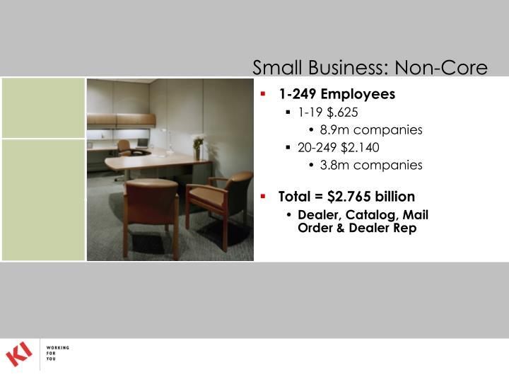 Small Business: Non-Core