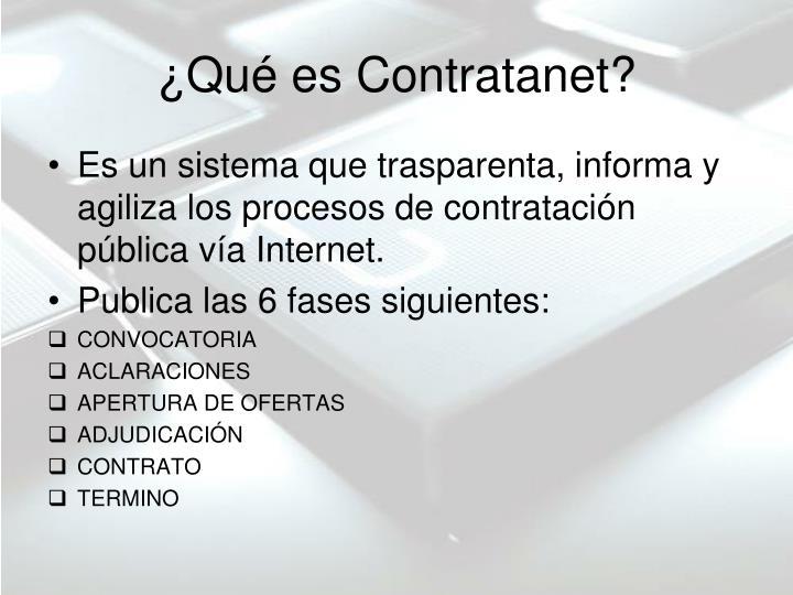 ¿Qué es Contratanet?