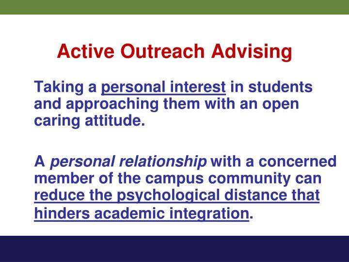 Active Outreach Advising