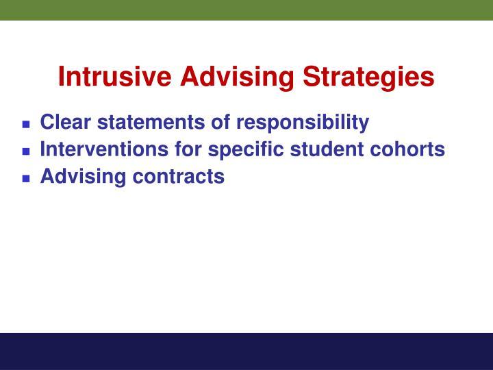 Intrusive Advising Strategies