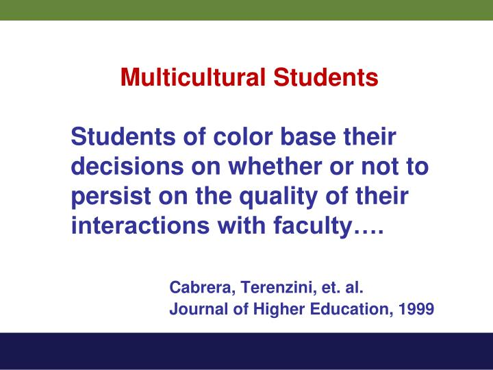 Multicultural Students