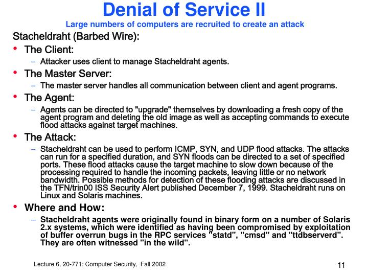 Denial of Service II