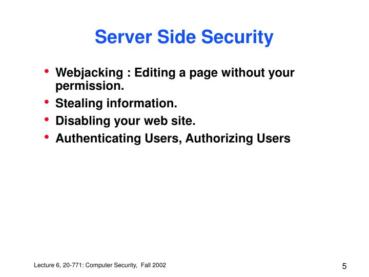 Server Side Security