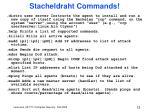 stacheldraht commands