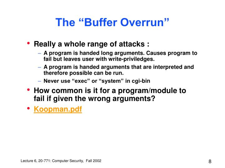 "The ""Buffer Overrun"""