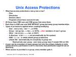 unix access protections