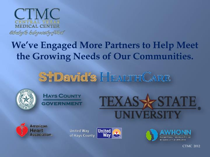 We've Engaged More Partners to Help Meet