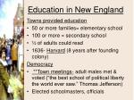 education in new england