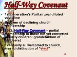 half way covenant